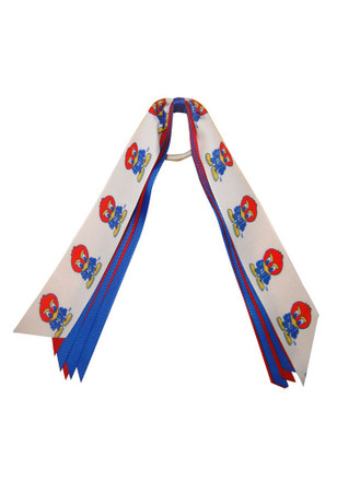 KU Jayhawks Baby Jay Hair Ribbons