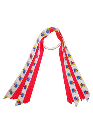 KU Jayhawks Mini Pony Streamer Hair Ribbons