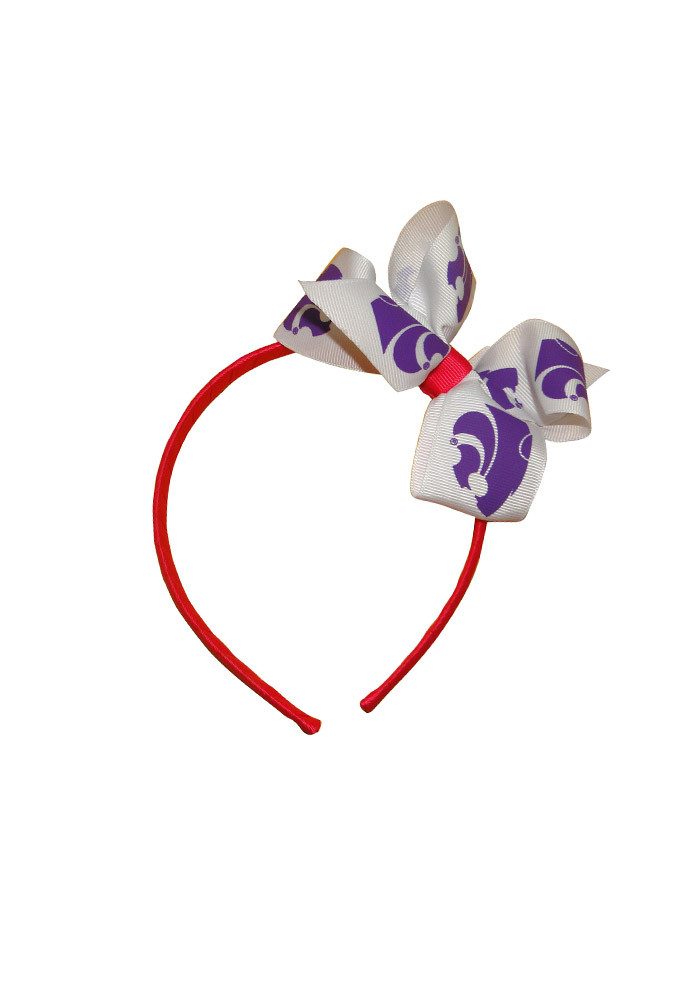 K-State Wildcats Jr Bow Kids Headband - Image 1