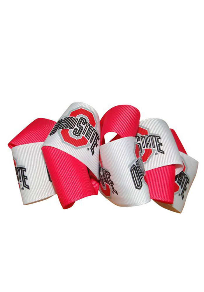 Ohio State Buckeyes Mary Loop Kids Hair Barrette - Image 1