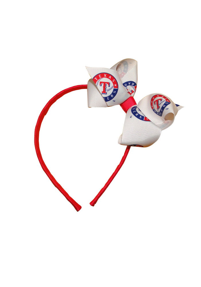 Texas Rangers Pink Jr Bow Kids Headband - Image 1