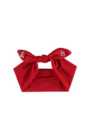 St Louis Cardinals Knotted Bow Headband