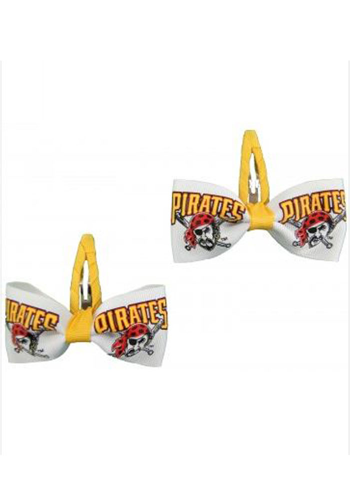 Pittsburgh Pirates 2 pack Clippie Baby Hair Barrette - Image 1