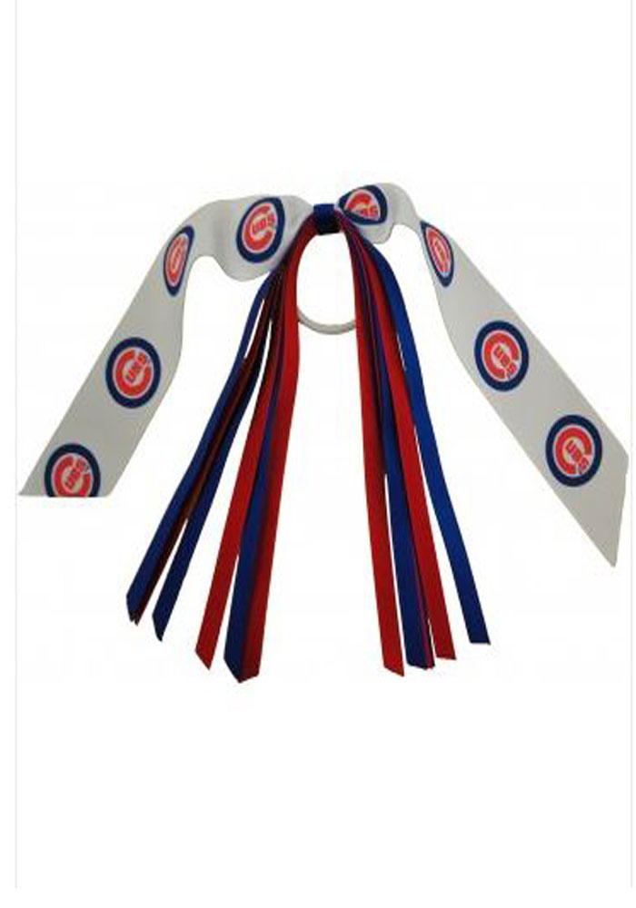 Chicago Cubs Pony Streamer Kids Hair Ribbons - Image 1