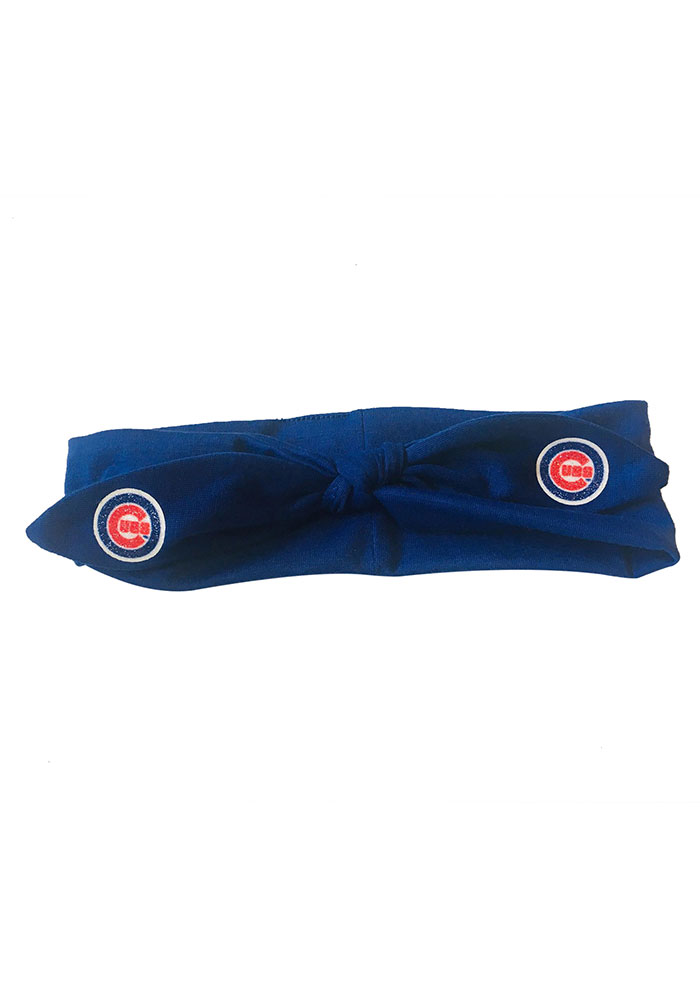 Chicago Cubs Knotted Bow Kids Headband - Image 1