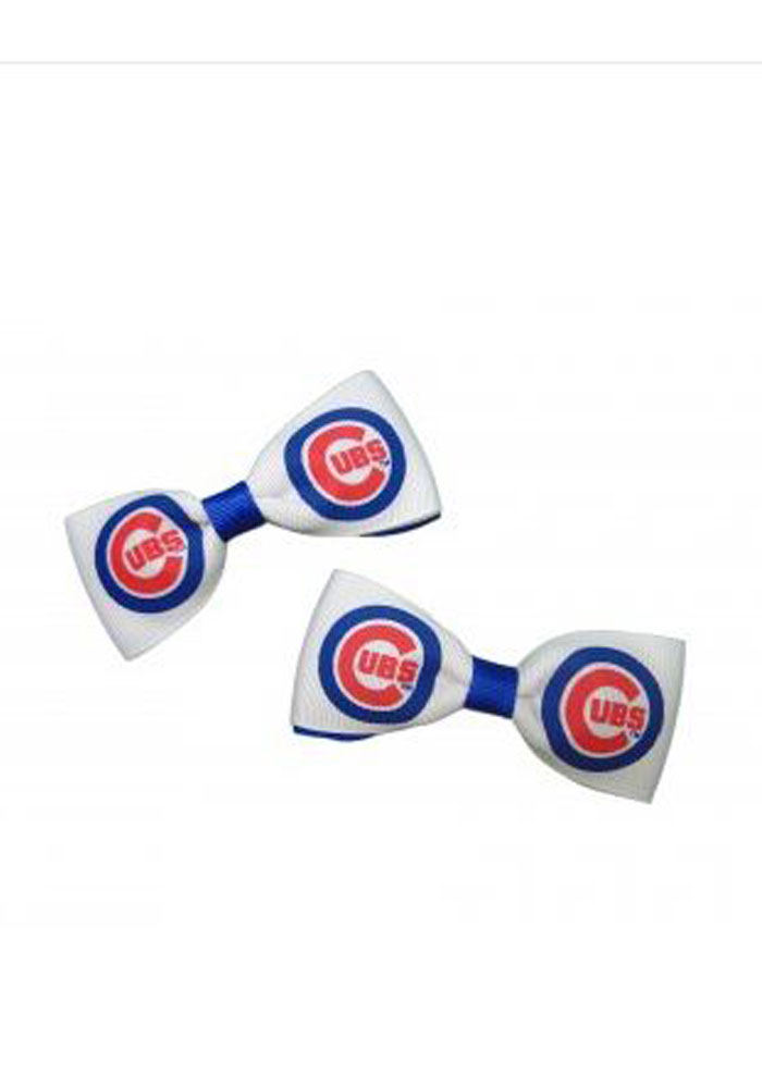 Chicago Cubs 2 Pack Clippie Baby Hair Barrette - Image 1
