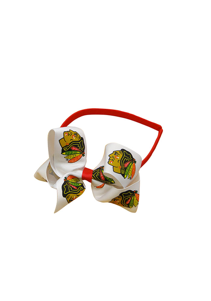 Chicago Blackhawks Junior Bow Kids Headband - Image 1