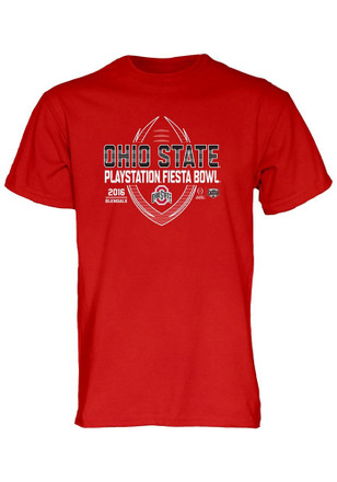 The Ohio State University Mens Red Spiral Stripe Tee