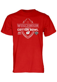 Wisconsin Badgers Red Spiral Stripe Tee