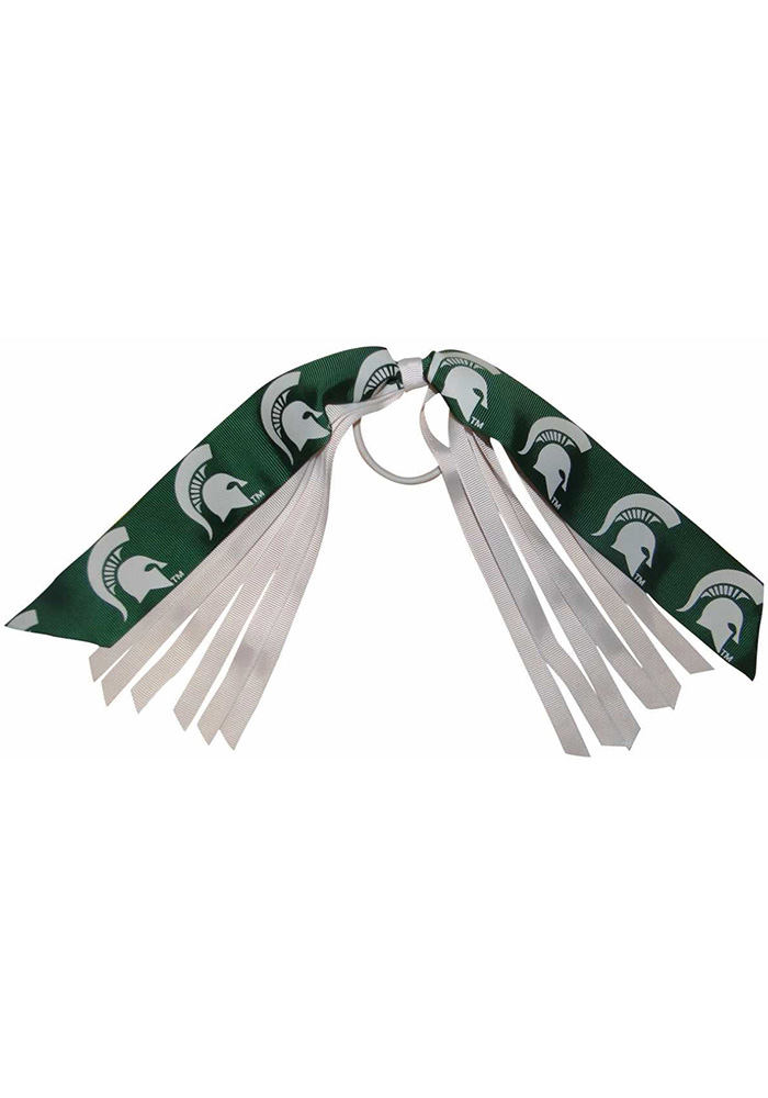 Michigan State Spartans Pony Streamers Kids Hair Barrette - Image 1
