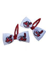 Cleveland Indians Baby Team Logo Hair Barrette - Red