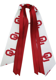 Oklahoma Sooners Kids Team Logo Hair Ribbons - Crimson