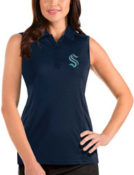 Seattle Kraken Womens Antigua Sleeveless Tribute Tank Top - Navy Blue