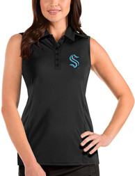Seattle Kraken Womens Antigua Sleeveless Tribute Tank Top - Black