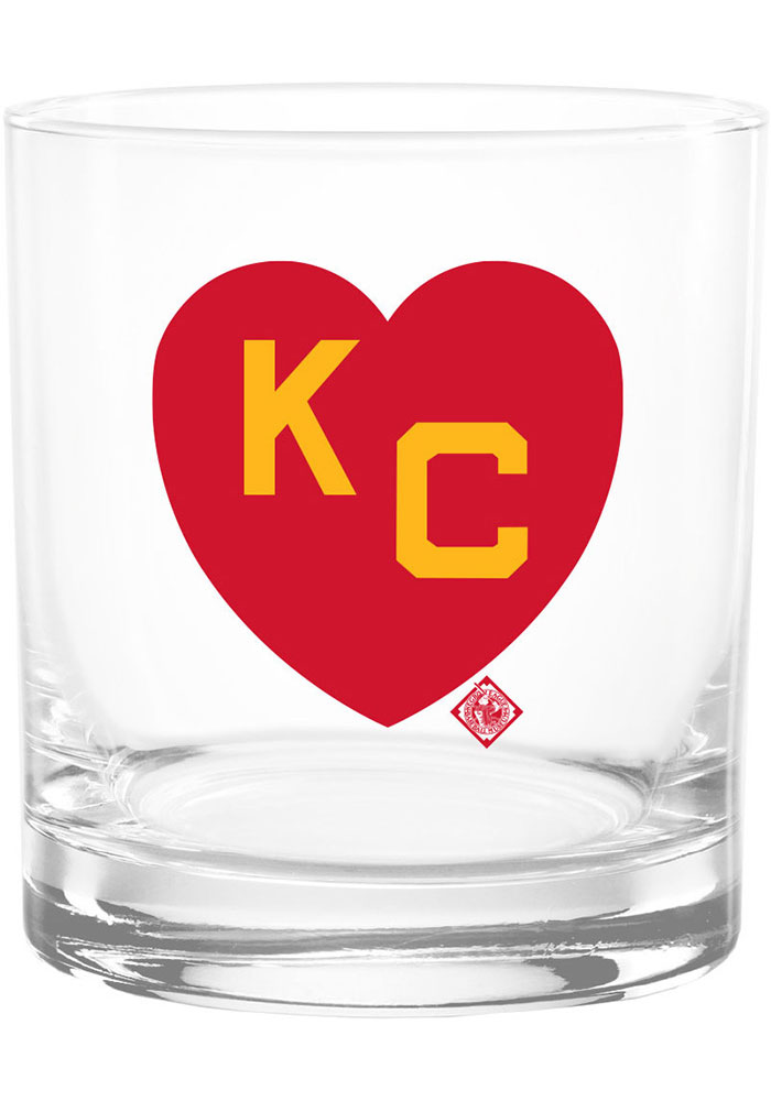 Kansas City Monarchs 14OZ KC heart rocks Rock Glass - Image 1