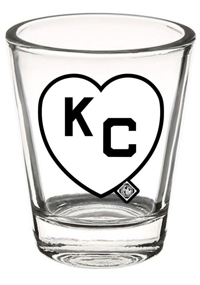 Kansas City Monarchs 2OZ KC heart shotglass Shot Glass - Image 1