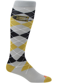 Emporia State Hornets Mens Charcoal Team Argyle Socks
