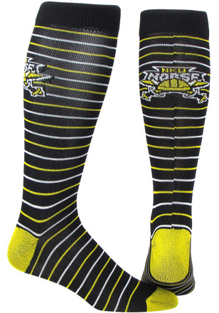 Northern Kentucky Norse Mens Black Stripe Dress Socks