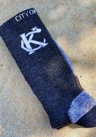Kansas City Mens Grey Hiking Crew Socks