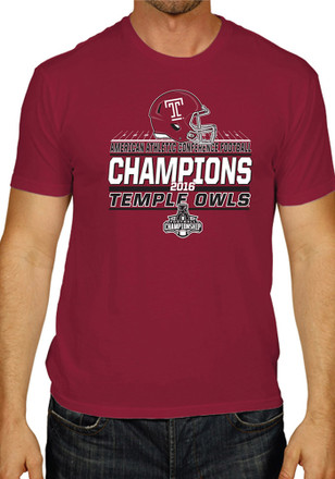 Temple Mens Red AAC Champions Tee