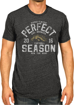 WMU Broncos Mens Black Undefeated Season Tee