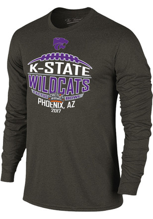 K-State Wildcats Mens Grey Laces Fashion Tee
