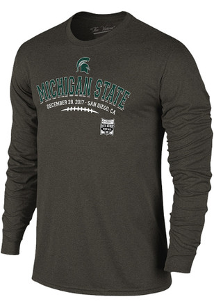 Michigan State Spartans Mens Grey Laces Fashion Tee