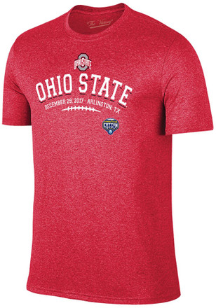 Ohio State Buckeyes Mens Red Laces Fashion Tee