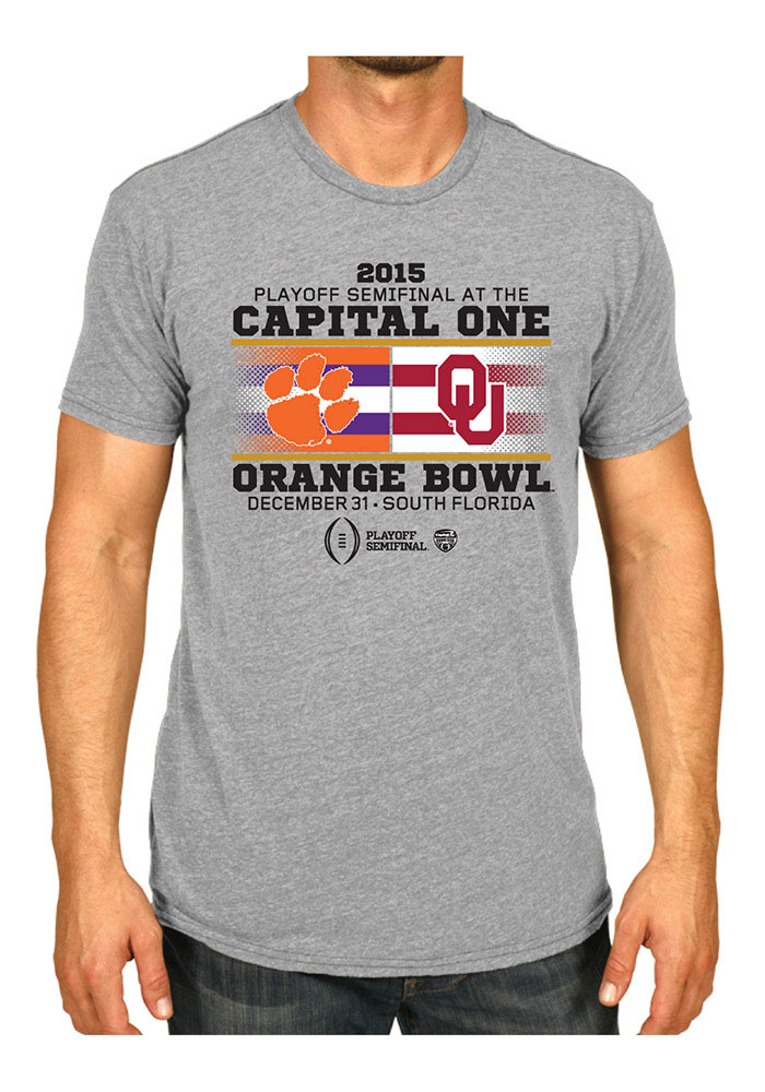 Oklahoma Gray 2015 Playoff Bound H2H SS T-shirt - Image 1