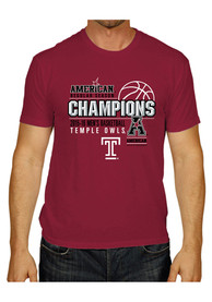 Temple Red AAC Champs Locker Room Fashion Tee