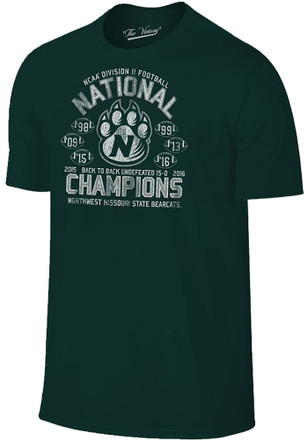 Northwest Mo State Bearcats Mens Green National Champions Tee