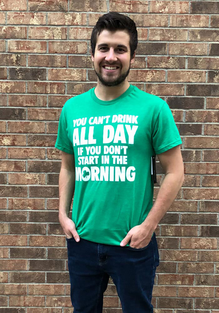 Rally St Patrick's Day Green Can't Drink All Day Short Sleeve T Shirt - Image 2