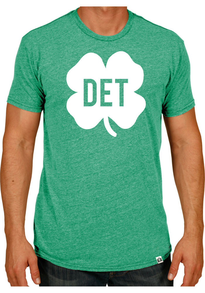Rally Detroit Green Shamrock Initials Short Sleeve Fashion T Shirt - Image 1