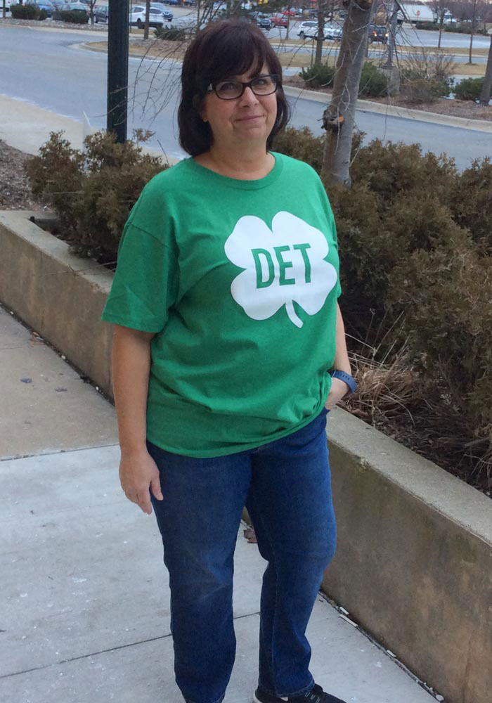 Rally Detroit Green Shamrock Initials Short Sleeve Fashion T Shirt - Image 2