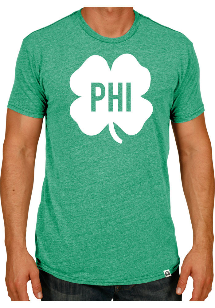 Rally Philadelphia Green Shamrock Initials Short Sleeve Fashion T Shirt - Image 1