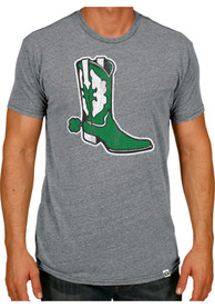 Rally Dallas Grey Shamrock Boot Spur Short Sleeve T Shirt