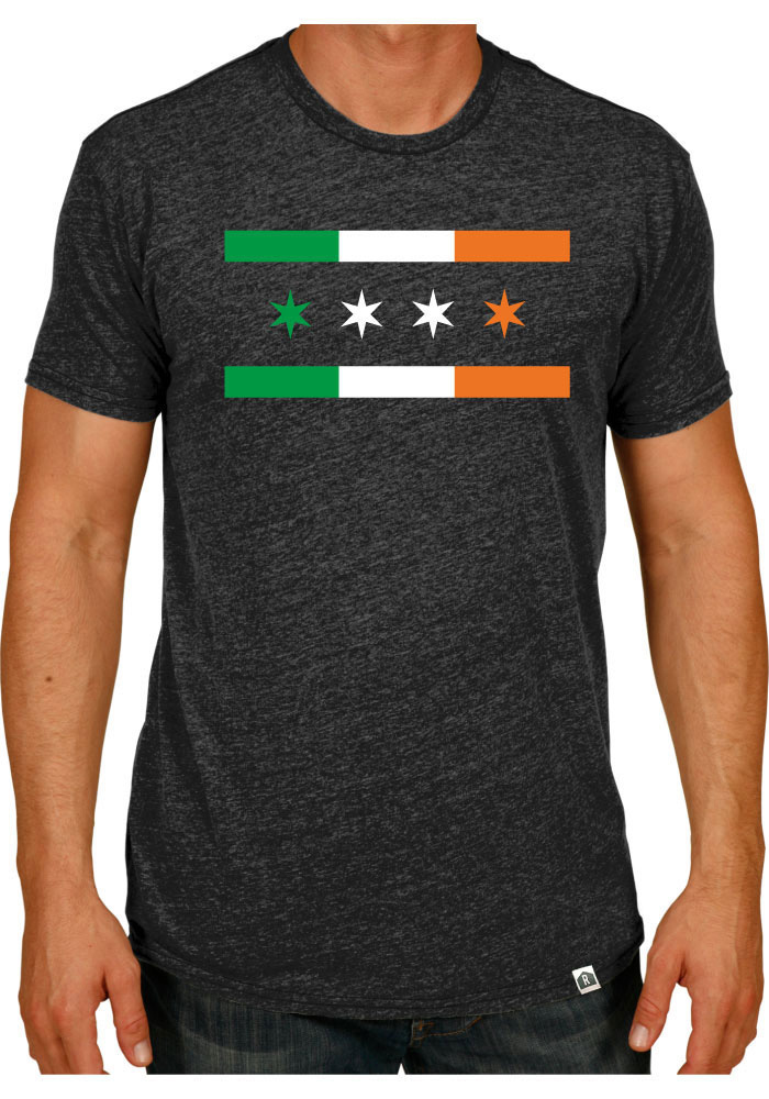 Rally Chicago Dark Grey Irish City Flag Short Sleeve Fashion T Shirt - Image 1