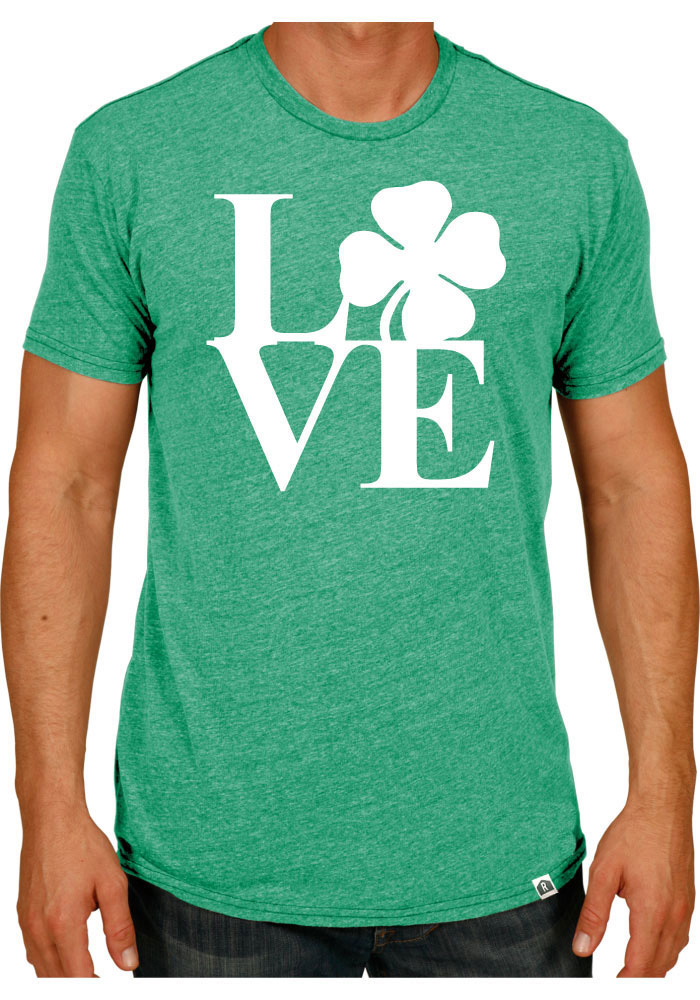 Rally Philadelphia Green Shamrock Love Short Sleeve T Shirt - Image 1