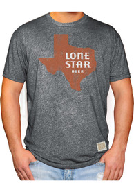 Lone Star Texas Grey State Shape Beer Short Sleeve T Shirt