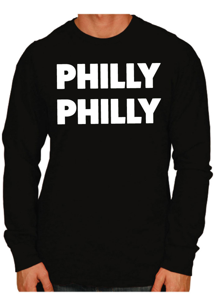 Philadelphia Black Philly Philly Long Sleeve T Shirt - Image 1