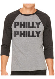 Philadelphia Grey Philly Philly Raglan ¾ Sleeve T Shirt