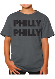 Philadelphia Youth Grey Philly Philly Short Sleeve T Shirt