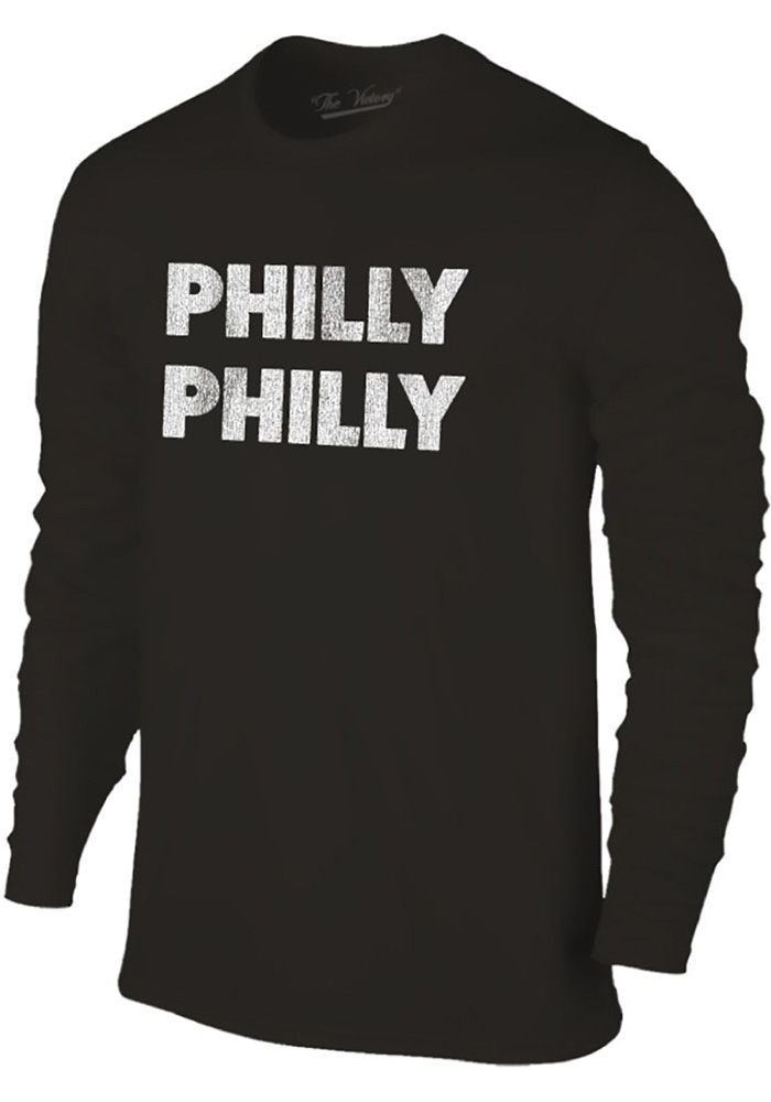 Philadelphia Youth Black Philly Philly Long Sleeve T-Shirt - Image 1