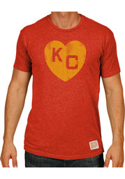 Original Retro Brand Kansas City Monarchs Red KC Logo Short Sleeve ... fdd033a46