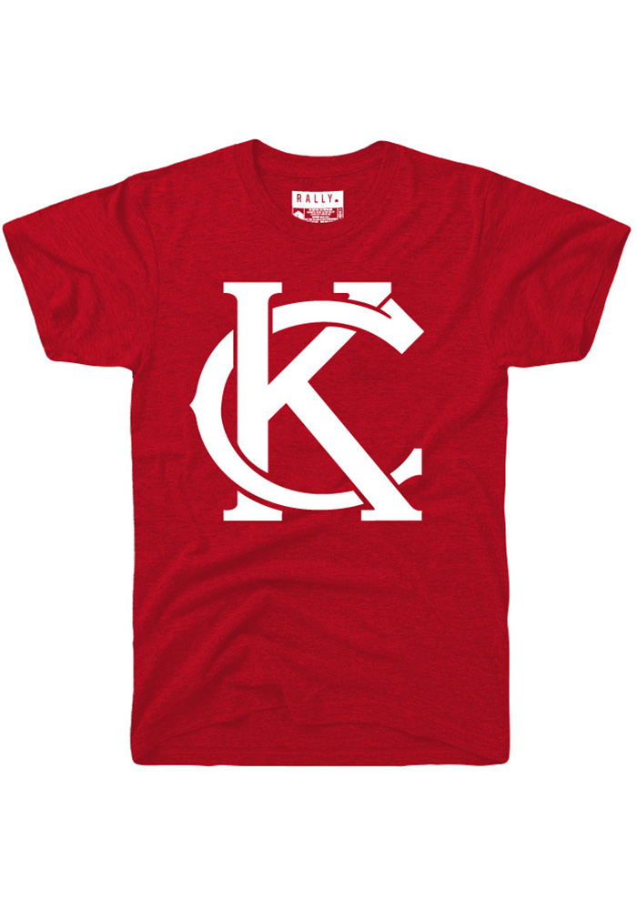 Rally Kansas City Red Monogram Short Sleeve Fashion T Shirt - Image 1