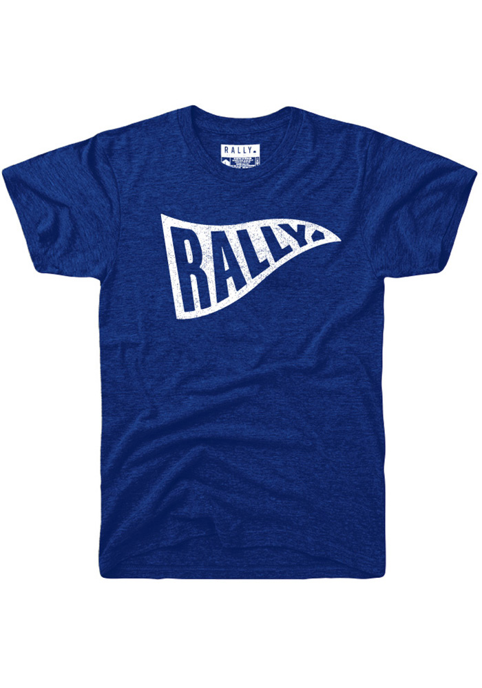 Rally Blue Pennant Short Sleeve Fashion T Shirt - Image 1