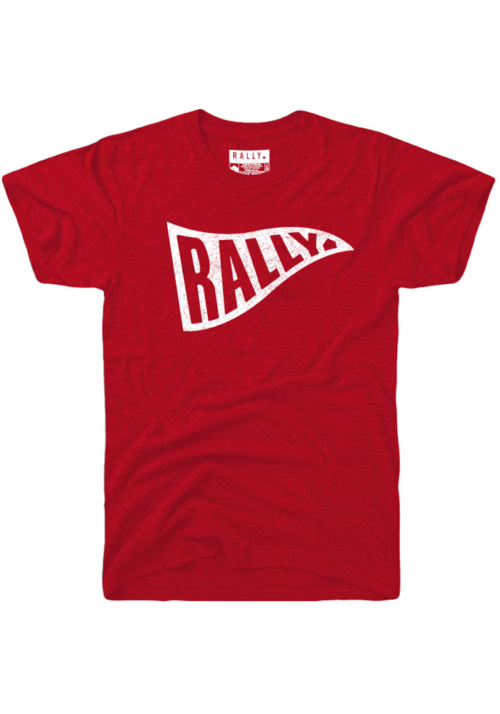 Rally Red Pennant Short Sleeve Fashion T Shirt - Image 1
