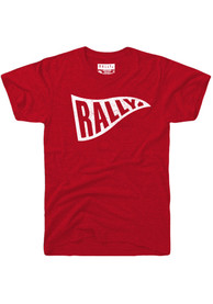 Rally Red Pennant Flag Short Sleeve T Shirt
