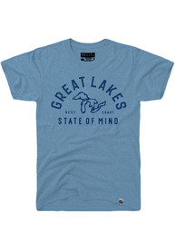Rally Michigan Light Blue Great Lakes State of Mind Short Sleeve T Shirt