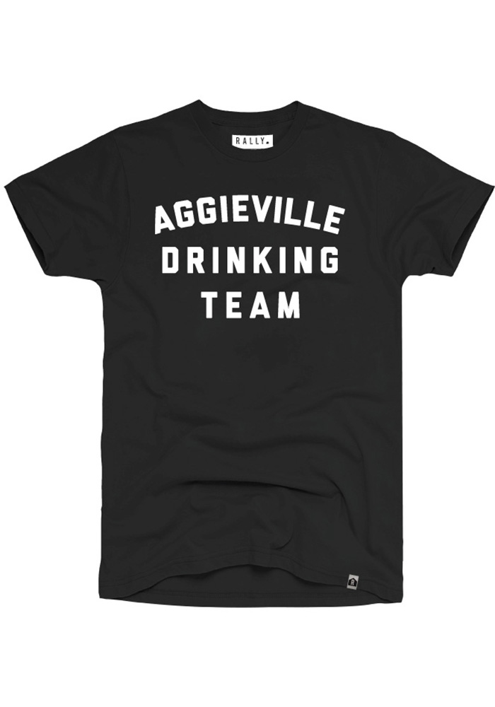 Rally Aggieville Black Drinking Team Fashion Tee - Image 1